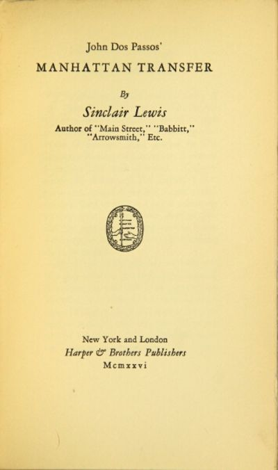 New York: Harper & Brothers Publishers, 1926. First edition limited to 975 copies of which this is n...