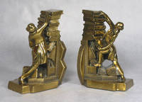 image of Philadelphia Manufacturing Co. Bronzed Bibliophile Bookends