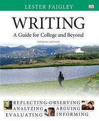 image of Writing: A Guide for College and Beyond (4th Edition)