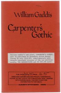 Carpenter's Gothic (Uncorrected Proof)