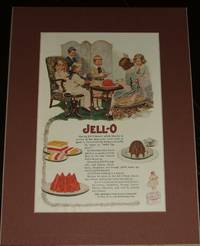 image of 1919 Full Page Color Jello Advertisement , Matted Ready to Frame Great  Image