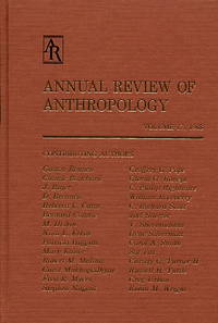 Annual Review of Anthropology, Volume 17, 1988