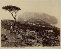 Isola di Capri. Panorama col Monte Solaro, animata.