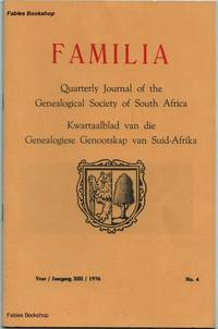 FAMILIA. 1976 No.4 by  C. (Ed) Pama - Paperback - from Fables Bookshop and Biblio.com