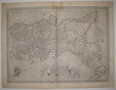 Antwerp: Ortelius, Abraham, 1570. unbound. very good(+). Map. Uncolored engraving. Image measures 14...
