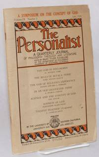 image of The Personalist A Quarterly Journal of Philosophy, Theology, and Literature, July 1928