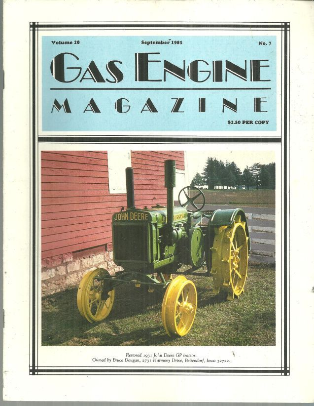 Image for GAS ENGINE MAGAZINE SEPTEMBER 1985