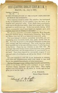 General Orders No. 39. Cavalry Corps M.D.M. Military Division of the Mississippi.