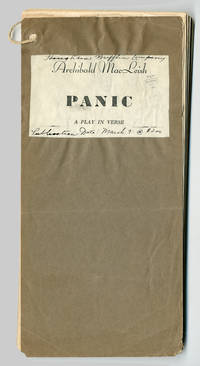PANIC. A PLAY IN VERSE