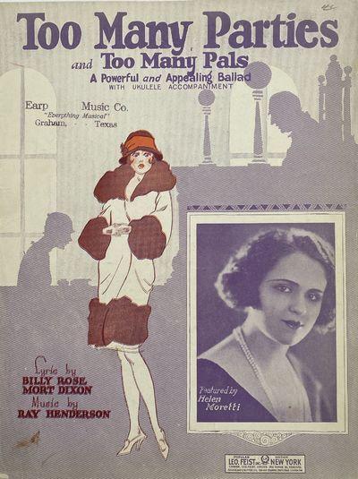 Feist Building, New York: Leo. Feist, Inc, 1925. Ephemera no binding. Very good. Ray HENDERSON. 12 1...