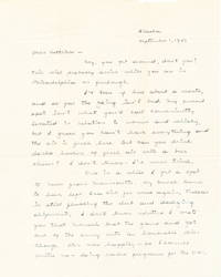 Autograph Letter Signed, two separate 4to pages, Alaska, Sept. 1, 1943; with envelope including  signature in the return address