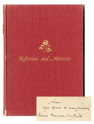 : Privately Printed, 1949. Sq. octavo. Gilt red cloth. Cloth worn and frayed at lower fore-tip and a...