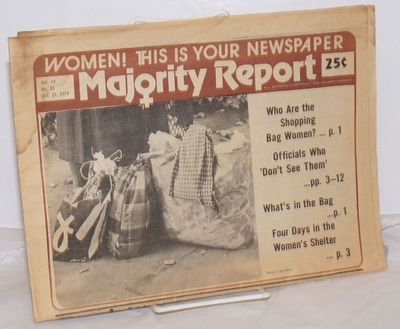 New York: Majority Report Co, 1974. 16p., newsprint leaves folded twice to tabloid format; evenly br...