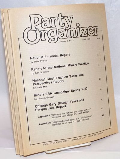 New York: Socialist Workers Party, 1980. Six volumes, all wraps, 8.5x11 inches, paper slightly brown...