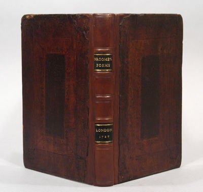 1727. Vertue, George. BROOME, William. POEMS ON SEVERAL OCCASIONS. London: Bernard Lintot, 1727. Oct...