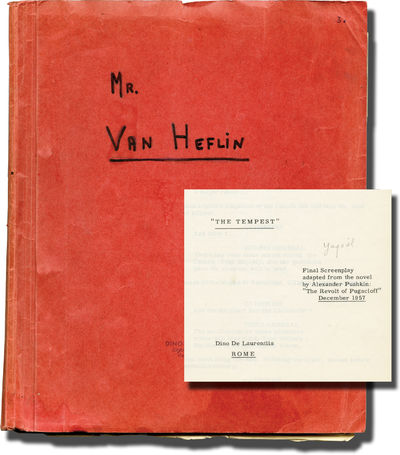 Hollywood: Paramount Pictures, 1957. Final Draft script for the 1958 film. Actor Van Heflin's copy, ...