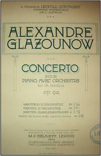 Concerto pour piano avec orchestre, Op. 92