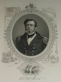 image of Original 1866 Engraved Protrait of Admiral Andrew Hull Foote from a Brady  Photograph