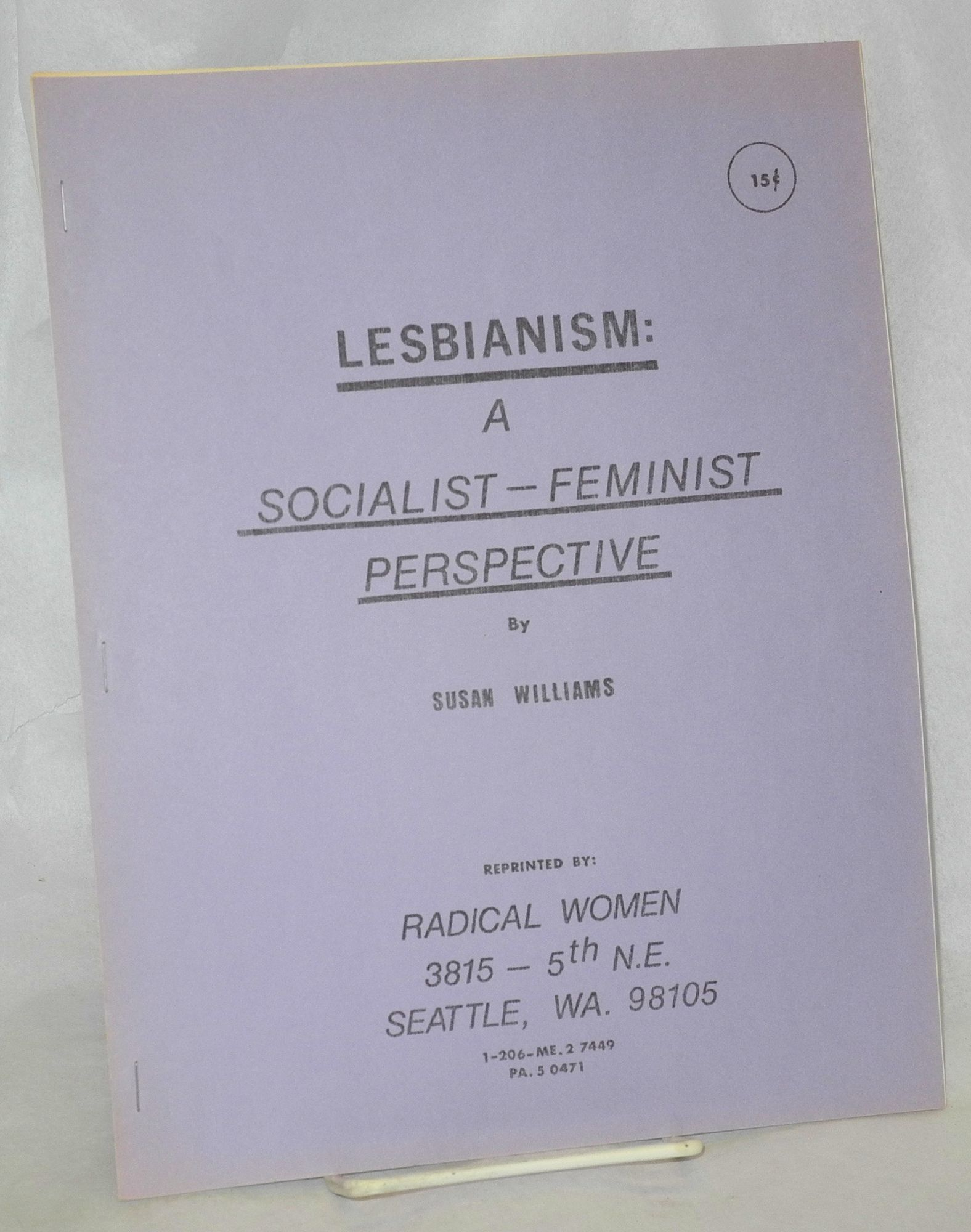 an analysis of feminism and the standpoint of lesbianism This article offers a reflexive analysis of critical feminism in the archival field   movement perspective appeared in the american archivist in 19737 as new  social history  the lesbian herstory archives (lha) is often cited as a  noteworthy.