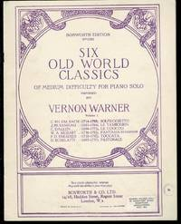 image of Six Old World Classics of Medium Difficulty for Piano Solo