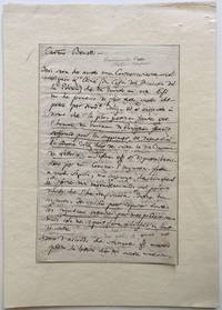 Autographed Letter Signed to theater director Giambattista Benelli