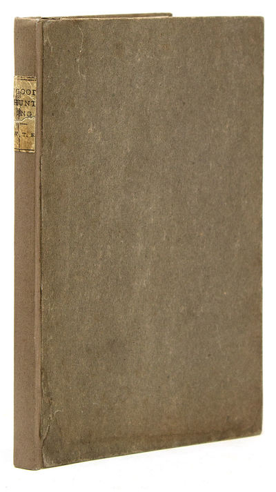 New York: , 1901. First edition, perhaps 100 copies printed. 75 pp. 1 vols. 12mo (7-1/2 x 4-5/8 inch...