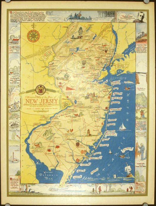Historical Map Of The State Of New Jersey By Leon L