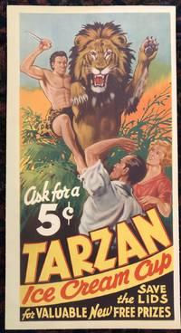 TARZAN ICE CREAM CUP Advertising Poster. Ca 1930's. (Original Vintage Poster)