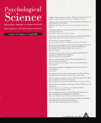 Psychological Science: Research, Theory & Application in Psychology and Related Sciences (Volume 16, Number 4, April 2005)