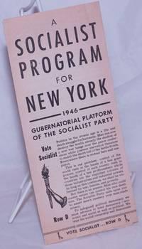 image of A Socialist Program for New York: 1946 Gubernatorial Platform of the Socialist Party