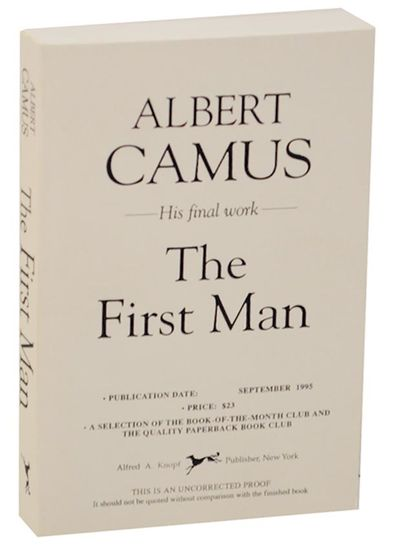 New York: Alfred A. Knopf, 1995. First edition. Softcover. Uncorrected proof. The last work from the...