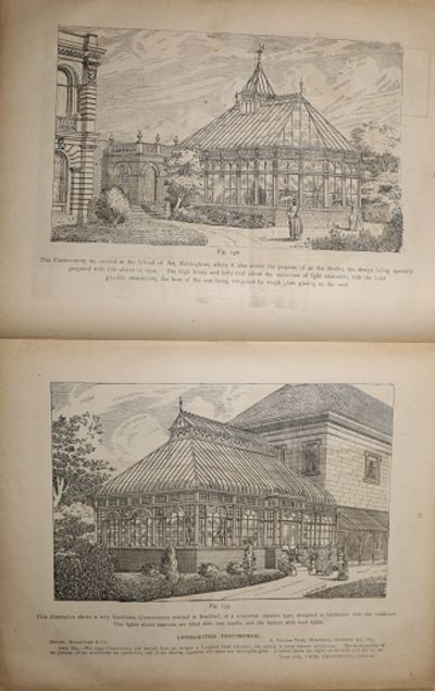 Hardcover. Poor. Catalogue with a wide variety of greenhouses. 4to. 27.5 by 21.5 cm. 128 pp. Five le...