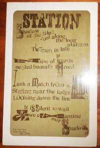 Station (Broadside Poem, Signed by Artist)