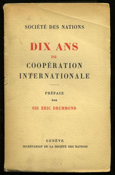 Geneve: Secretait de la Societe des Nations, 1930. First edition. Paper wrappers. A very good unopen...