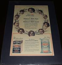image of Large 1908 Full Page Color Ad for Pillsbury's Flour and Cereal, Matted  Ready to Frame a Great Image