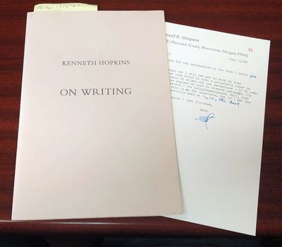 Beaverton: Blackwood Press, 1989. Limited edition. Softcover. Octavo; Limited edition, 109 copies; V...
