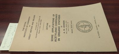 London: The Royal Institute of Chemistry of Great Britain and Ireland, 1948. First Edition. Softcove...