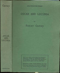 Oscar and Lucinda.  Uncorrected Proof