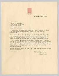 [Typed Letter, Signed, Concerning Photography]