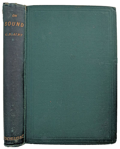 London:: Macmillan, 1871., 1871. Sm. 8vo. xvi, 279, , 63, pp. 2 folding plates; foxing. Original gre...