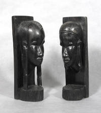 image of Carved African Figural Bookends