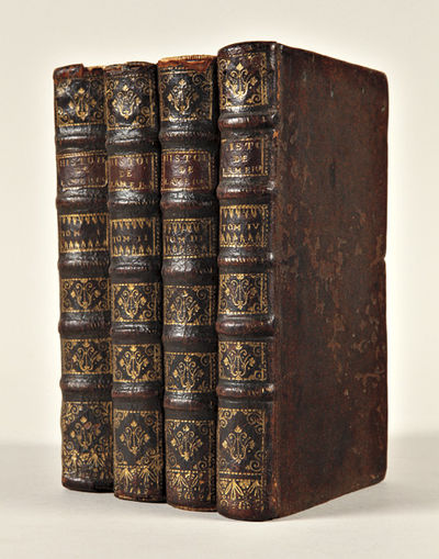 Paris: Jean-Luc Nion and François Didot, 1722. 4 volumes, 12mo. Titles in red and black. , 1-10, 15...