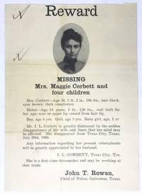 [BROADSIDE] [WOMEN] [TEXAS] Reward - Missing - Mrs. Maggie Corbett and four children