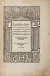 View Image 1 of 3 for La Table Coteynant en Sommarie les Choses Notables en la Graunde. Inventory #71513