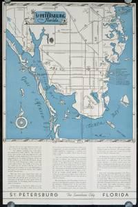 Pleasure Map of St. Petersburg Florida.  The Sunshine City.