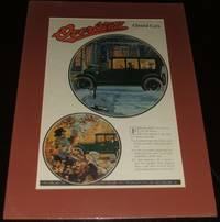 image of 1920 Full Page Color Automotive Ad for Overland Six Sedan , Matted Ready  to Frame