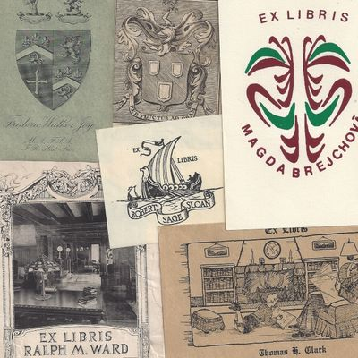 Bookplate. Very Good. Grab Bags of Six Mystery Bookplates! Thats right, you can get six bookplates f...
