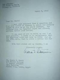 SIGNED Letter from Adlai Stevenson
