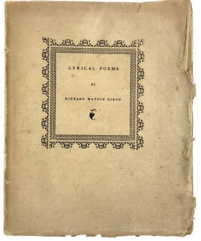 Oxford: Printed by H. Daniel, Fellow of Worcester College, 1887. First edition. First edition. Origi...
