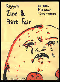 POSTER FOR THE 2016 REYKJAVIK ZINE AND PRINT FAIR